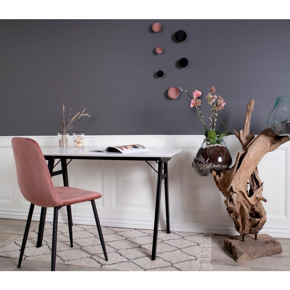 Designová jídelní židle Myla růžová - černé nohy