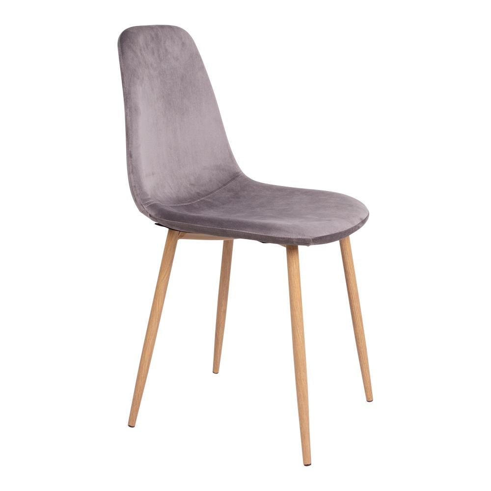 Designová jídelní židle Myla šedá - světlé nohy