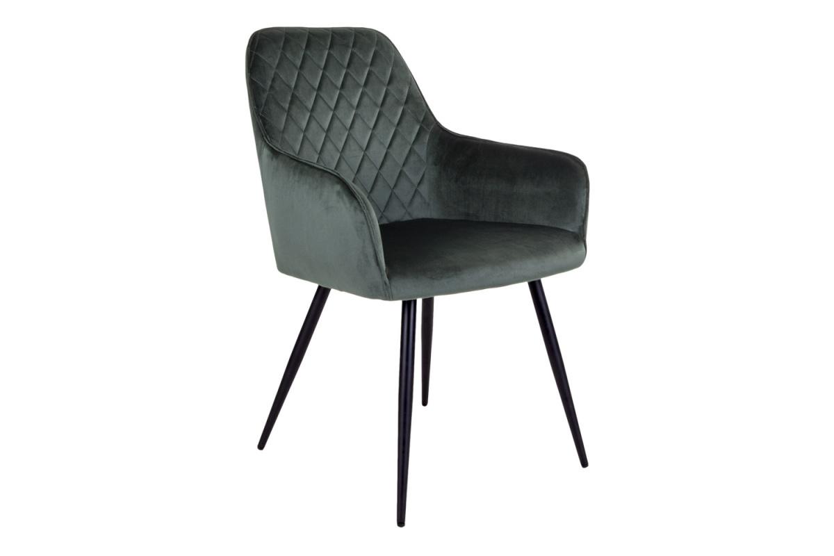 Designová jídelní židle Gracelyn, zelený samet