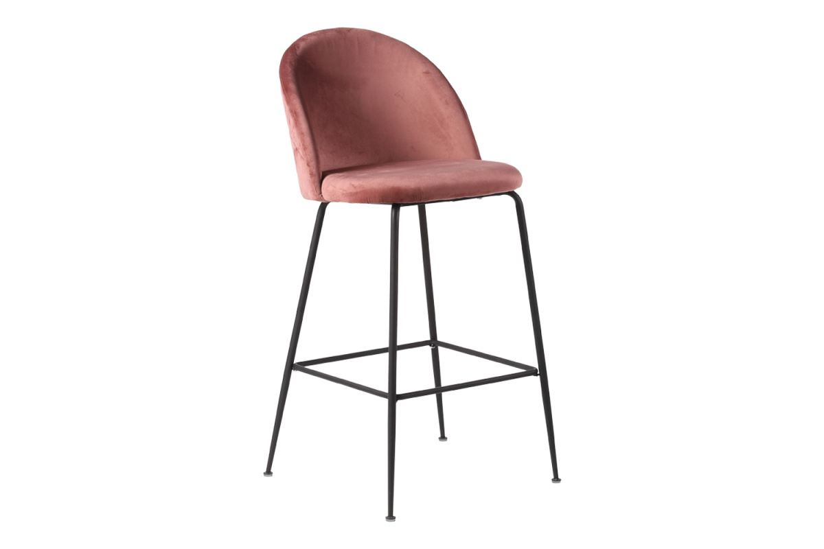 Designová barová židle Kristopher, růžová / černá