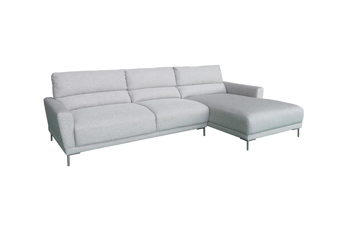 Designová sedačka Gary, světle šedá, pravá - skladem (SB)