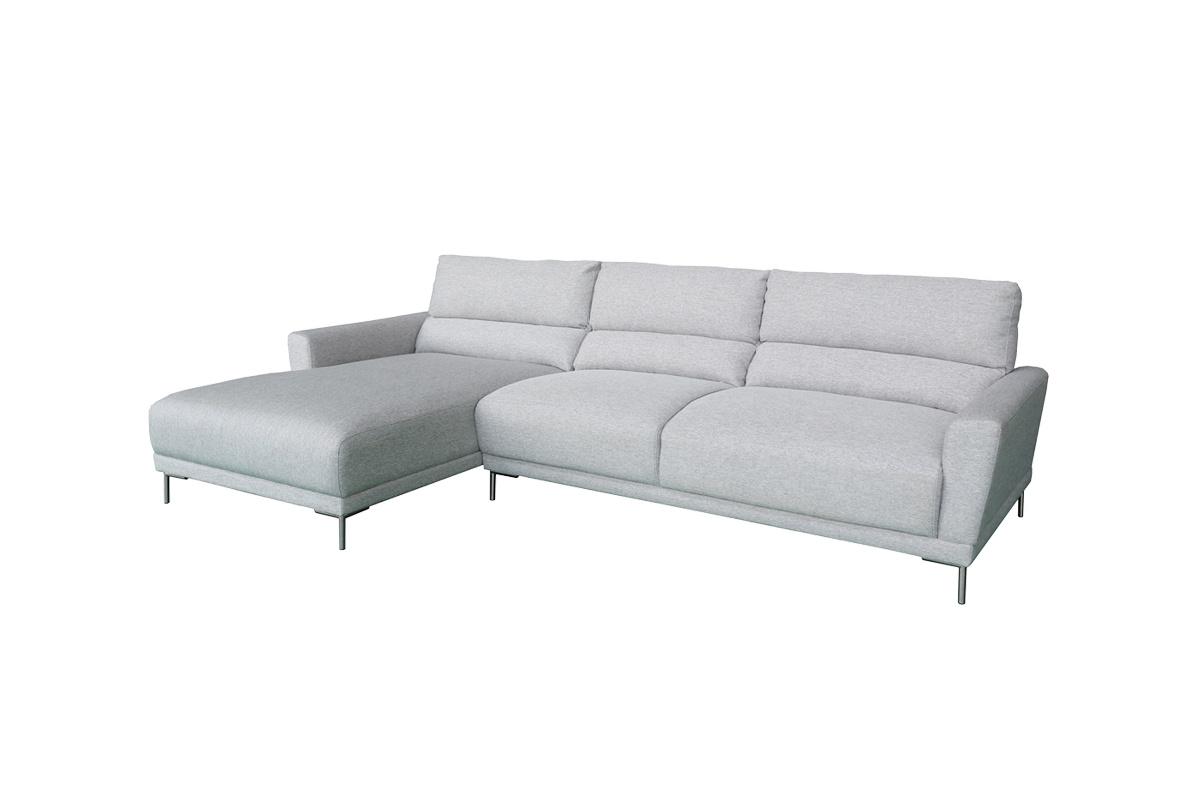 Designová sedačka Gary, světle šedá, levá - skladem (SB)