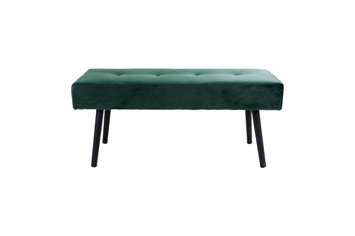 Designová lavice Elaina, zelený samet