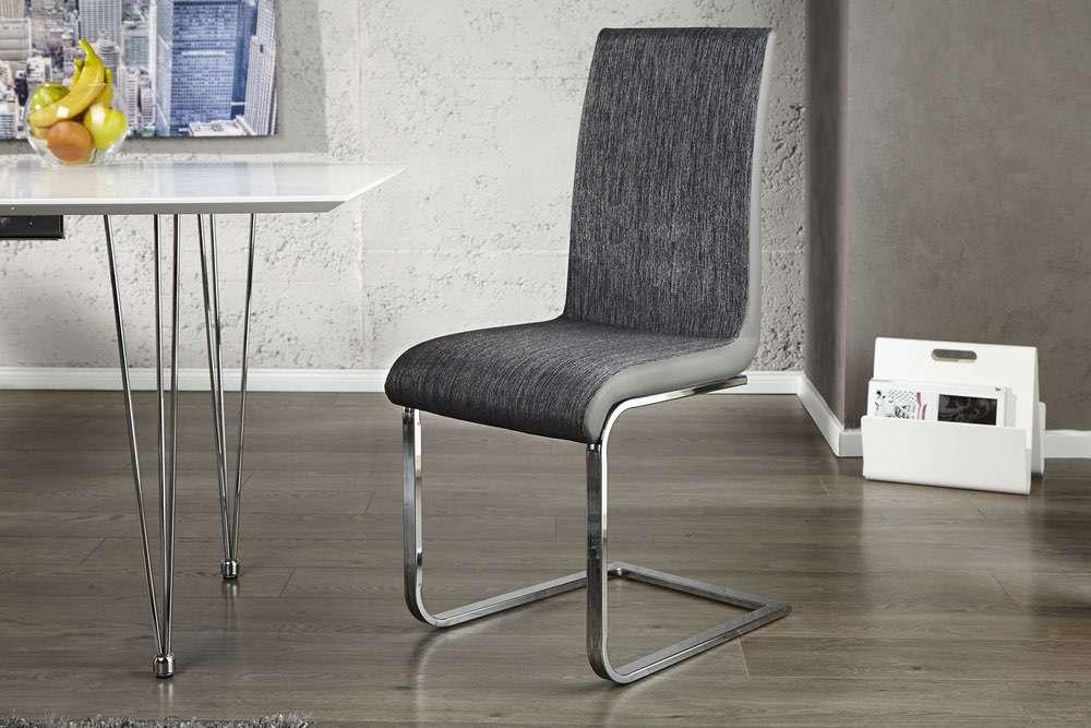 Židle City antracit černá