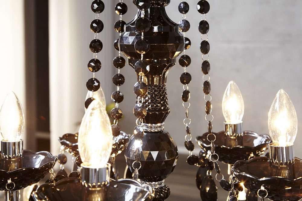 Luxusní lustr Barisimo XL Černý