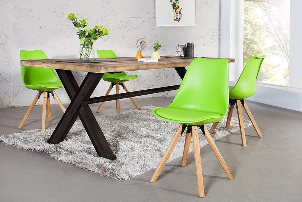 Židle Sweden NewLook limetková zelená