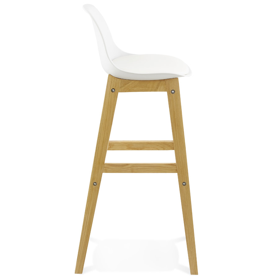Moderní barová židle Evan bílá