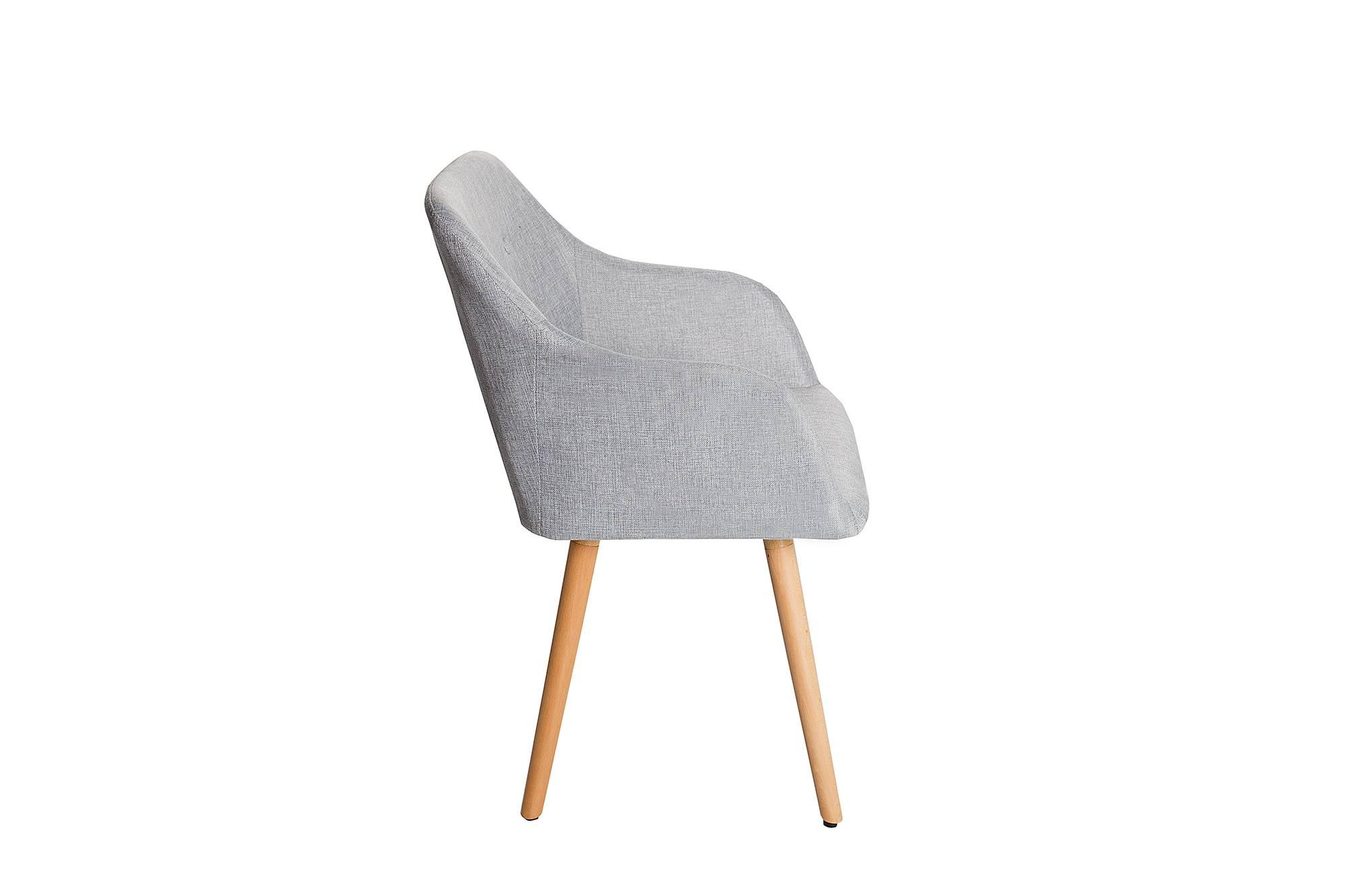 Židle Norway světle šedá