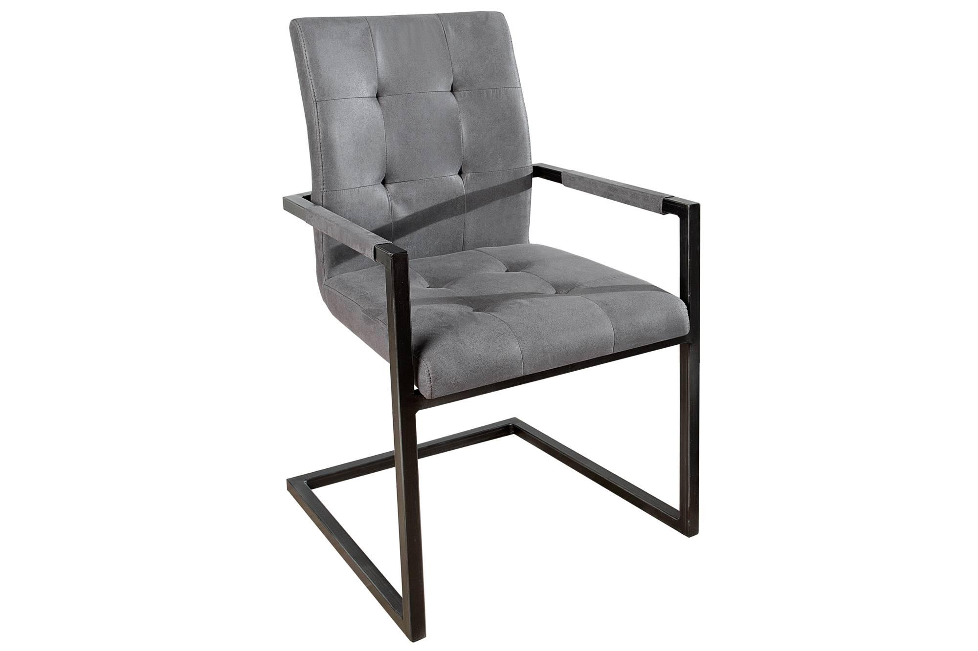Jídelní židle vintage English šedá s opěradlem