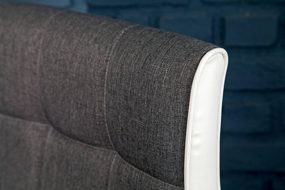 Designová barová židle Modern šedobílá - Skladem (RP)