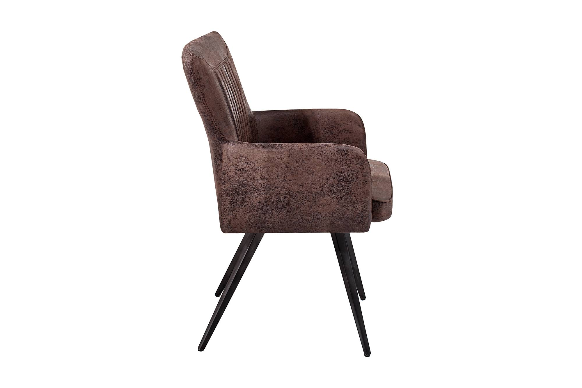 Designová židle Adda hnědá