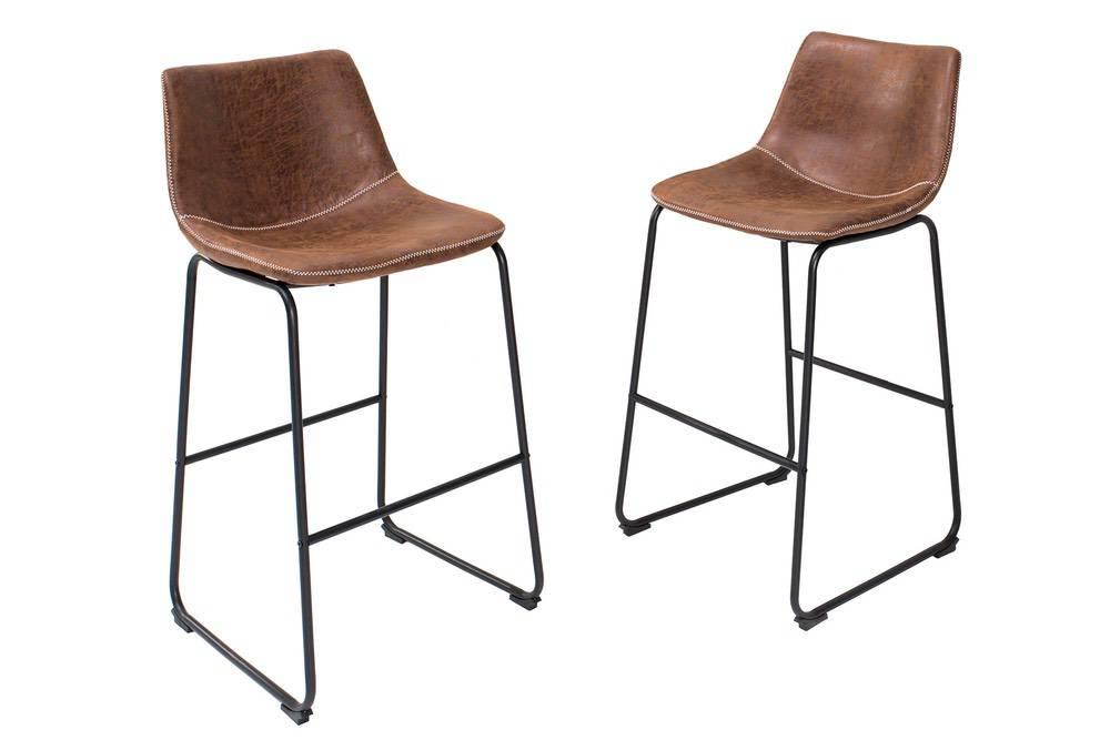 Designová barová židle Alba hnědá