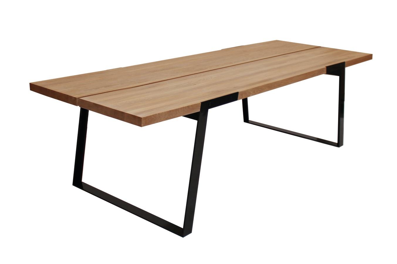 Luxusní jídelní stůl Zora 290 - 410cm přírodní / černá