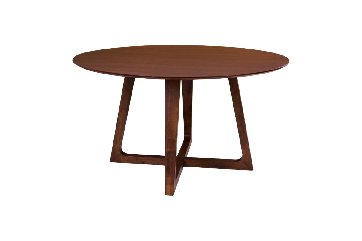 Kulatý jídelní stůl Miriam, ořech