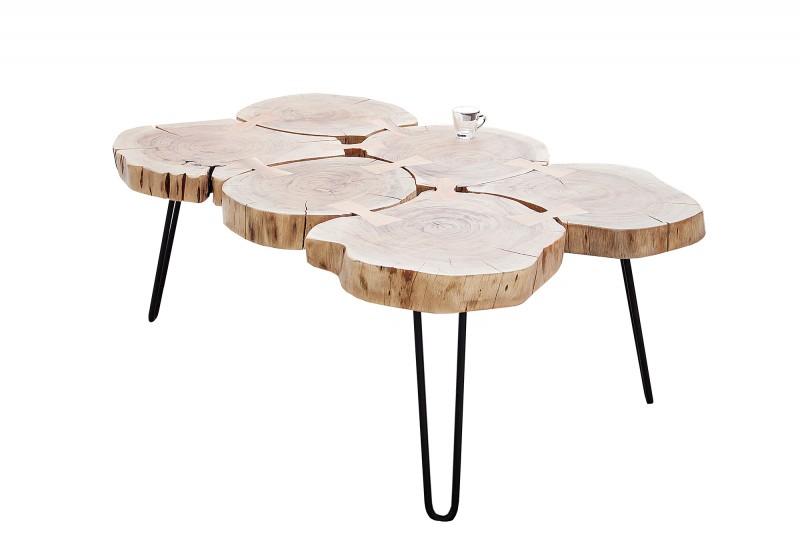Konferenční stolek z masivu Island II 115cm
