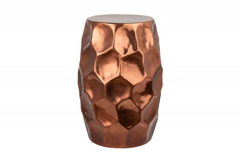 Odkládací stolek Malia Organic 30 cm měděný