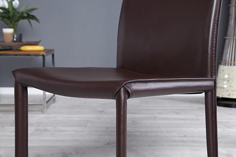 Židle Neapol hnědá kůže - Skladem (RP)