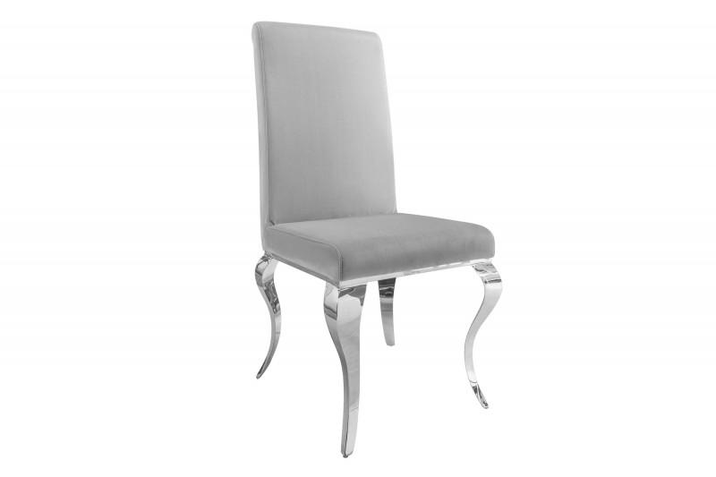 Designová židle Rococo šedá