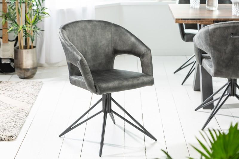 Designová otočná židle Age tmavě zelený samet