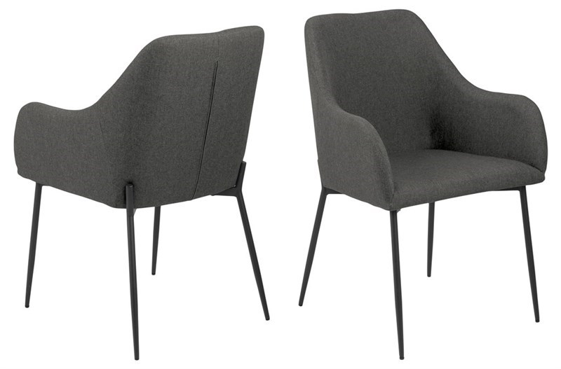 Designová jídelní židle Algernon šedá