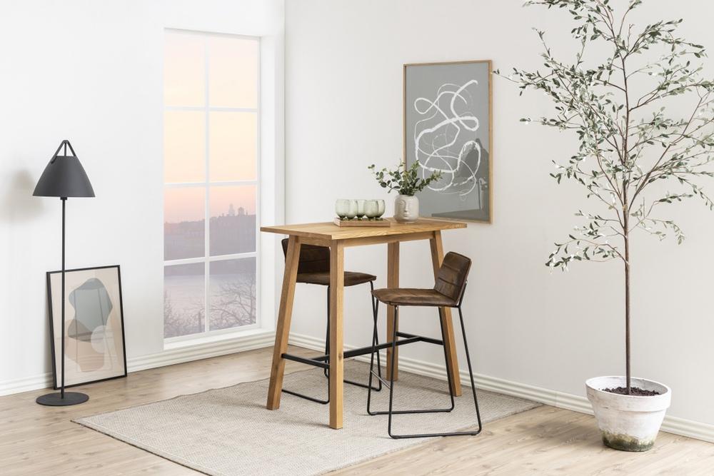 Barový stůl Nadida 117 cm divoký dub
