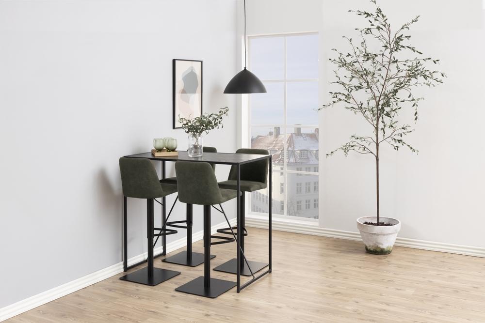 Barový stůl Naja 120 cm černá jasan
