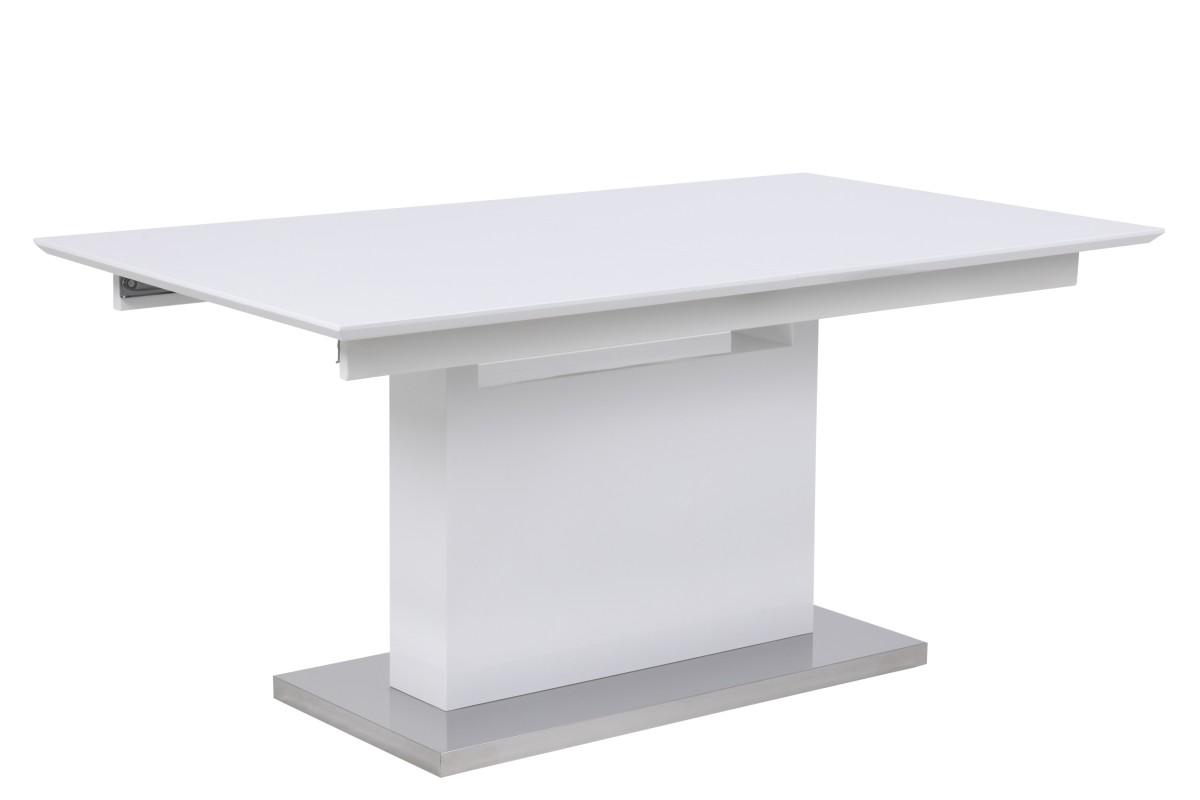 Bílý rozkládací jídelní stůl Nik HG 160/220 cm
