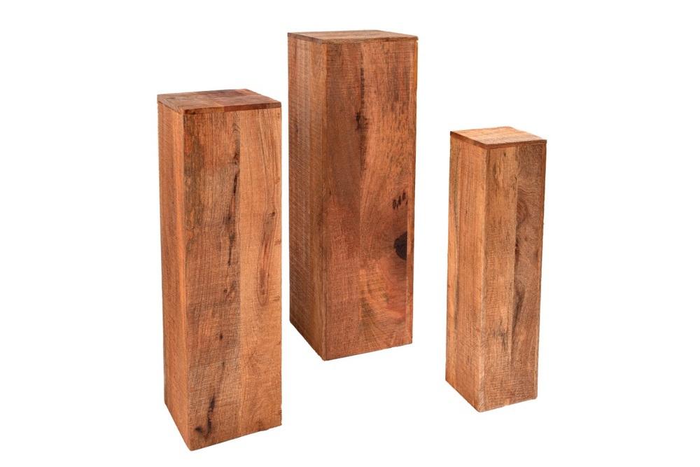 Dekorativní sloup Timber mango - set 3 ks