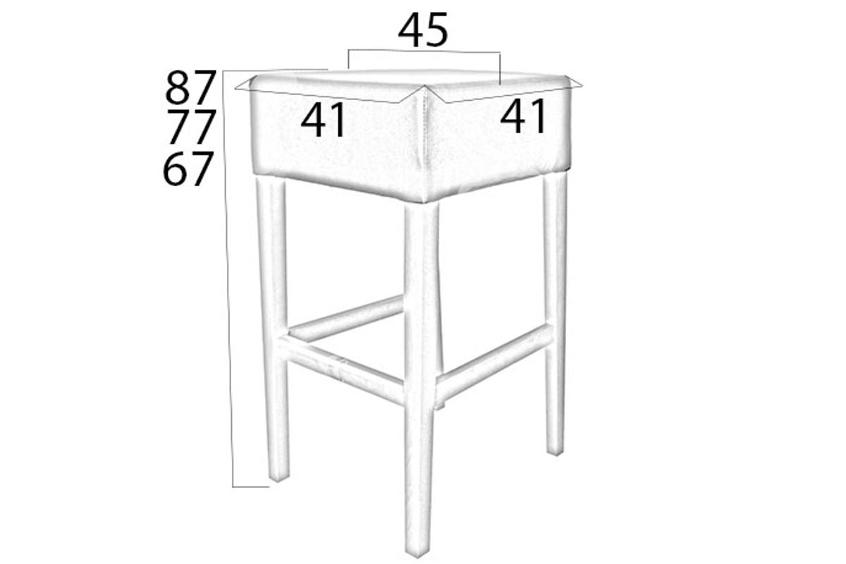 Designová barová židle Chad 67 různé barvy