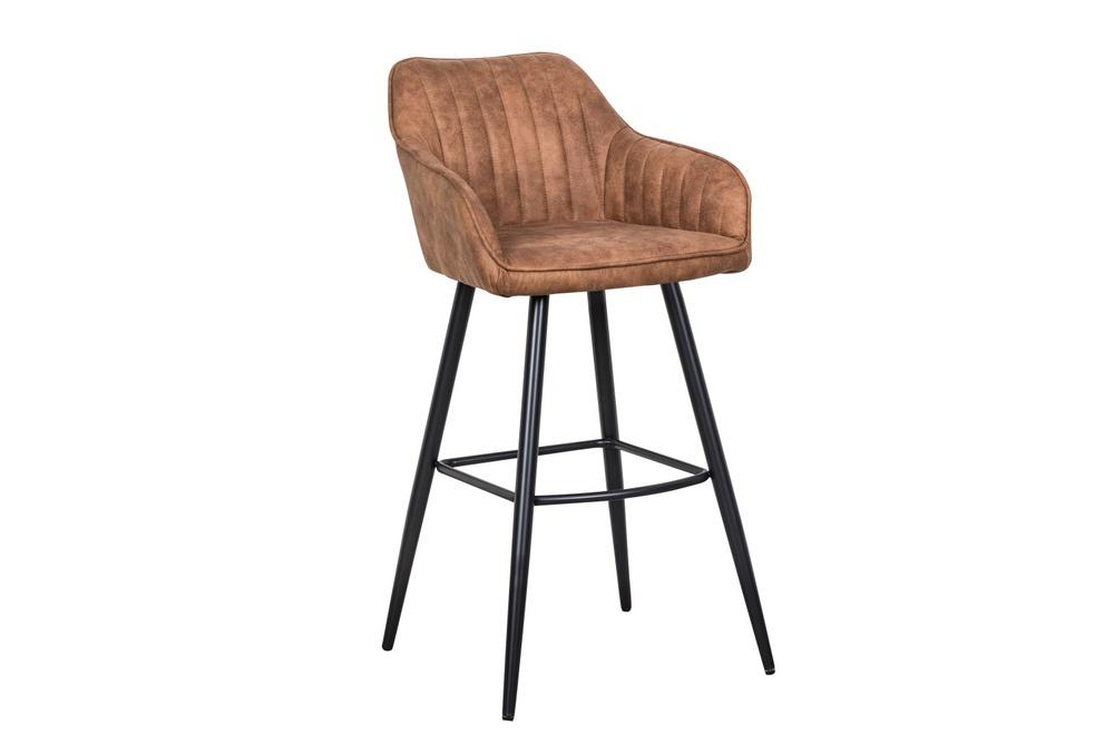 Designová barová židle Esmeralda vintage hnědá