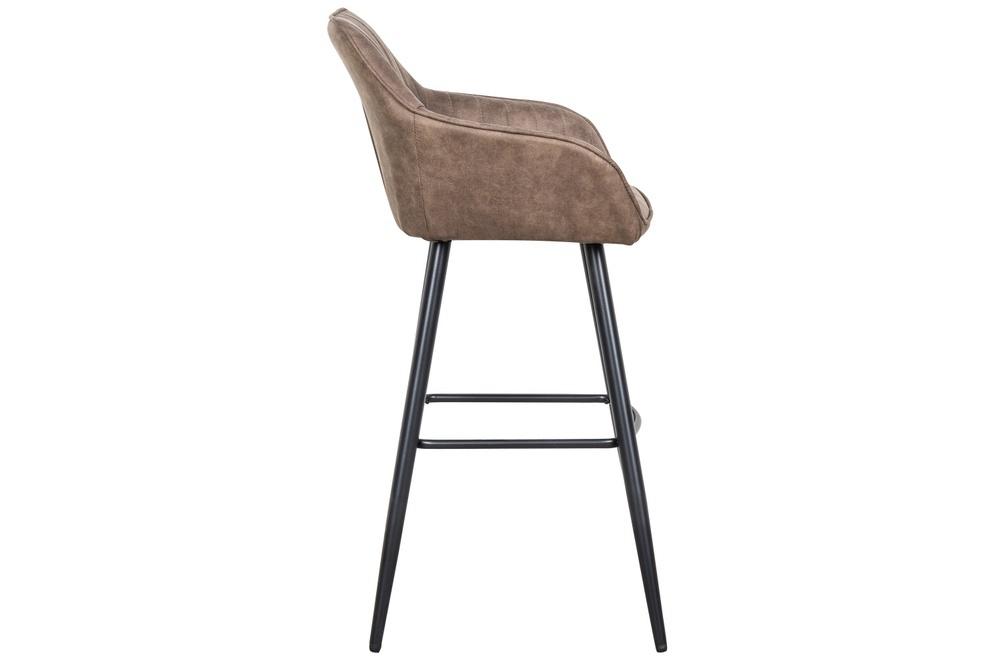 Designová barová židle Esmeralda vintage taupe