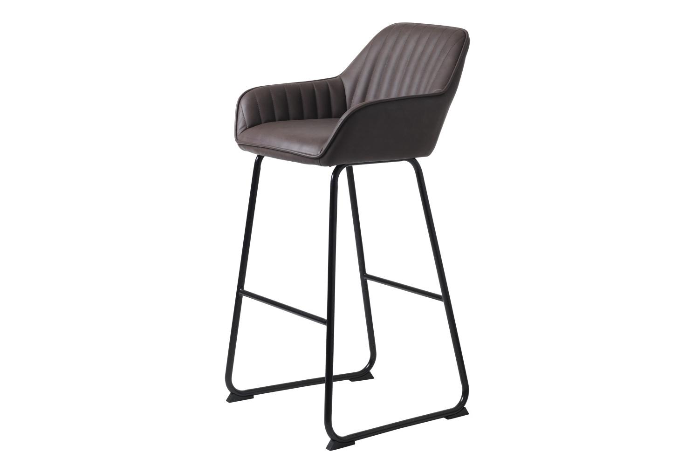 Designová barová židle Guillermo tmavě hnědá