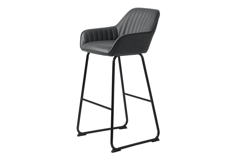 Designová barová židle Guillermo tmavě šedá