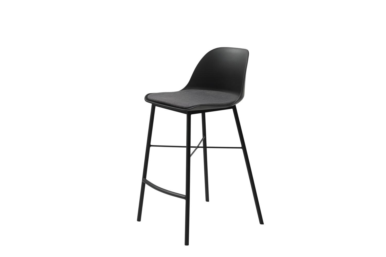 Designová barová židle Jeffery černá