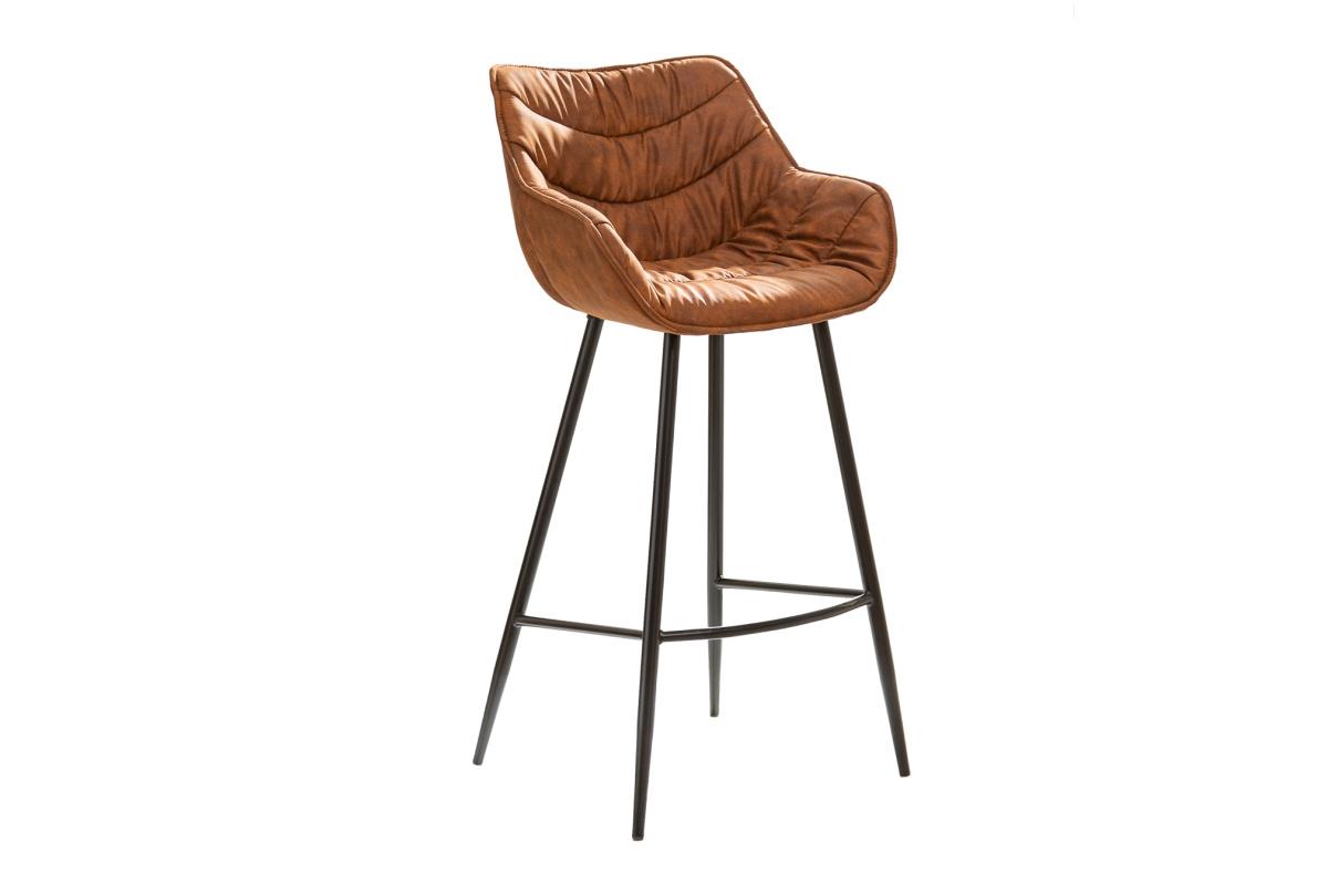 Designová barová židle Kiara antik hnědá
