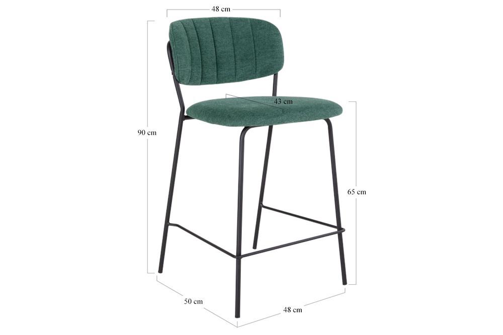 Designová barová židle Rosalie zelená