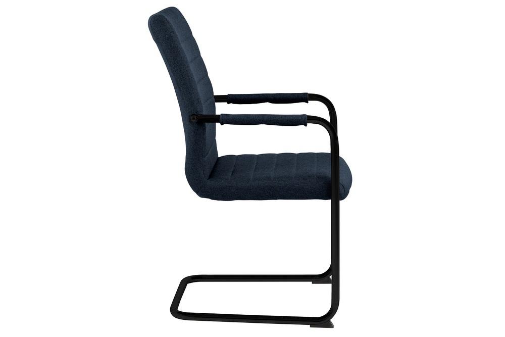 Designová jídelní židle Daitaro s opěrkami tmavomodrá / černá