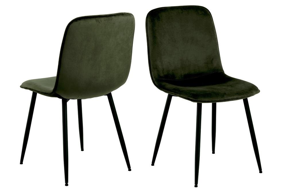 Designová jídelní židle Damek olivově-zelená