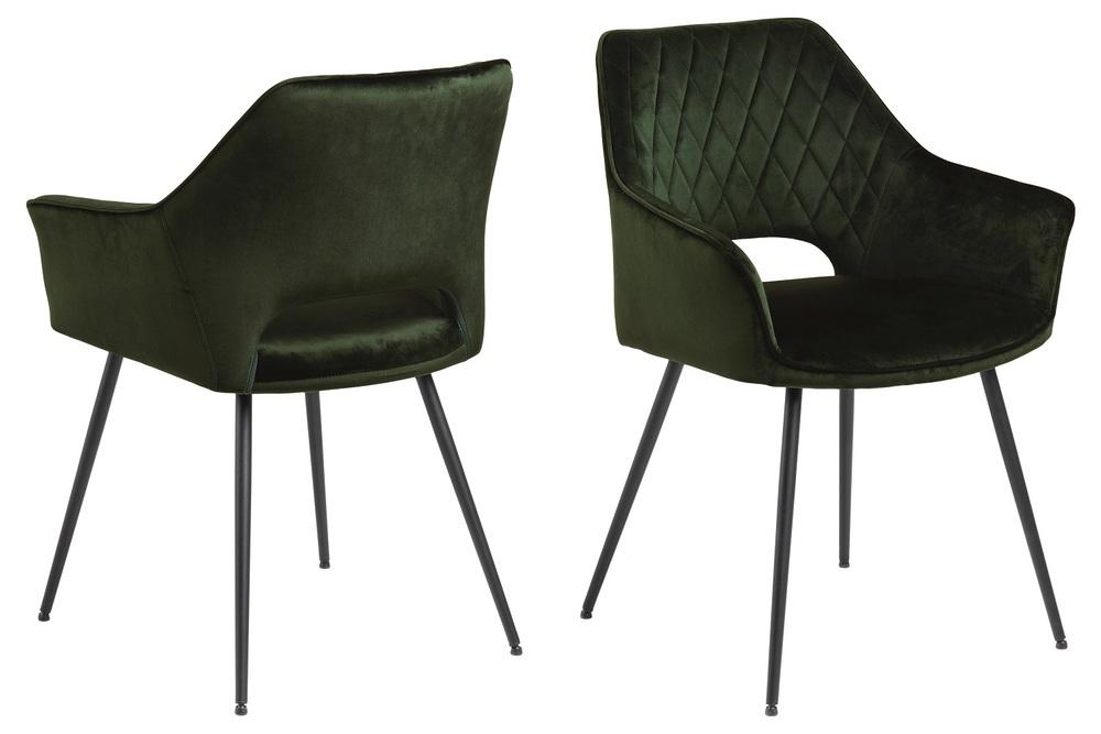 Designová jídelní židle Danessa olivově-zelená - Skladem (RP)