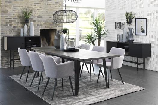 Designová jídelní židle Konko šedá