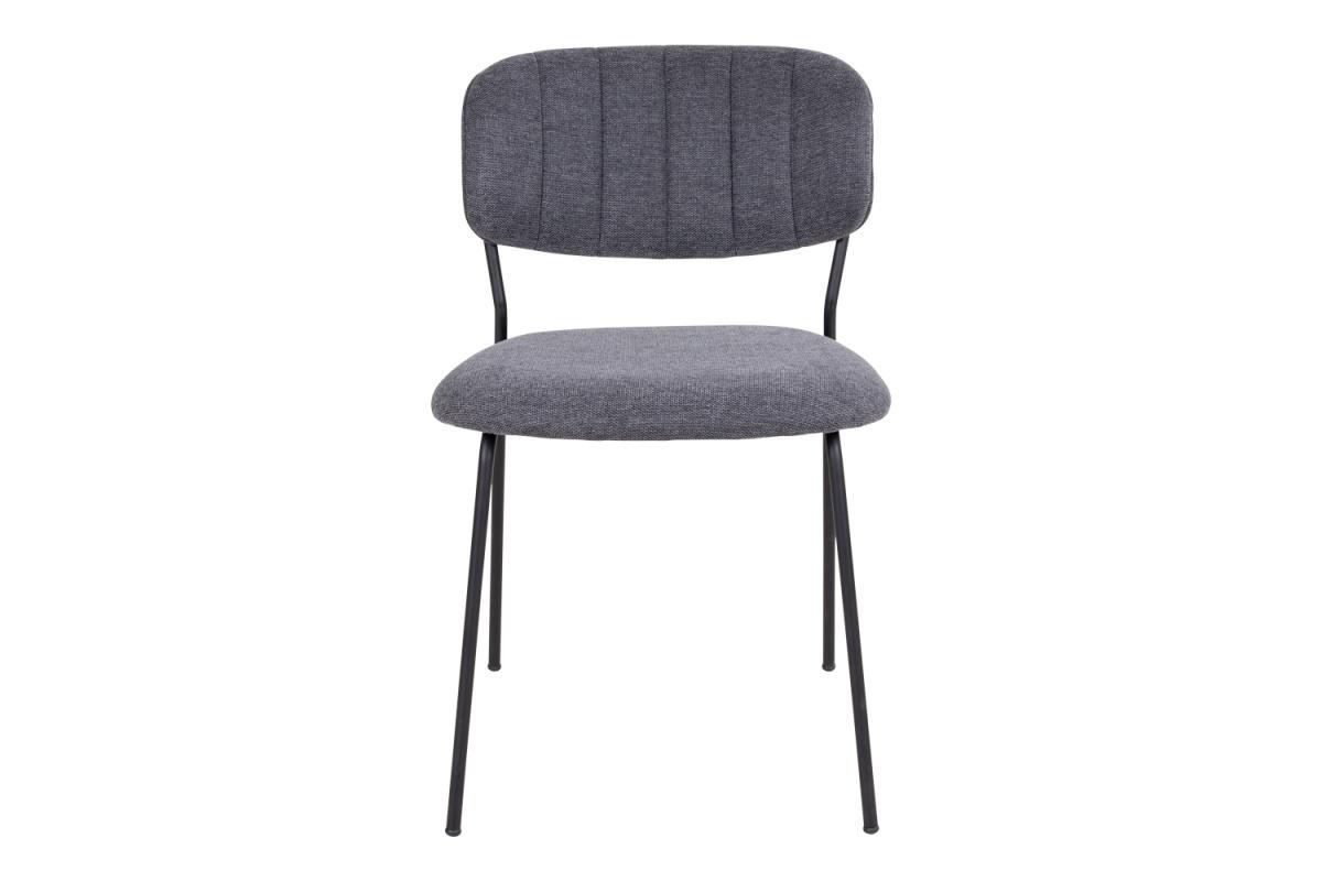 Designová jídelní židle Rosalie tmavě šedá