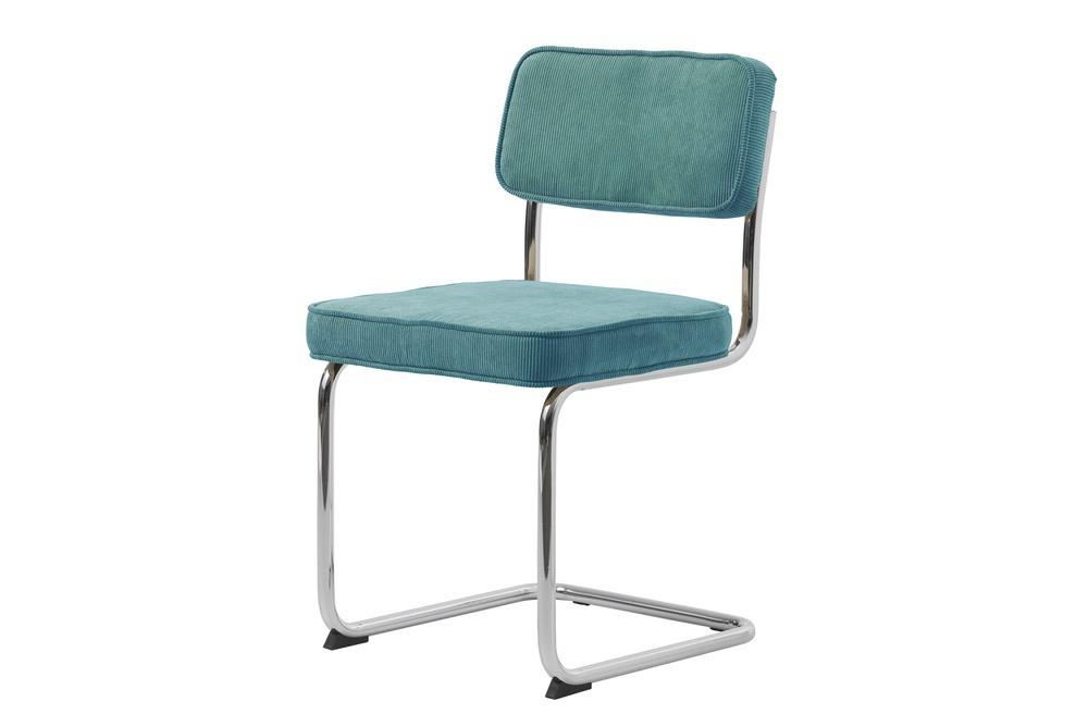 Designová konzolová židle Denise modrá