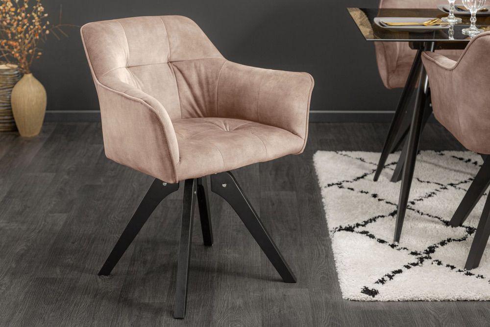 Designová otočná židle Giuliana šampaňský samet