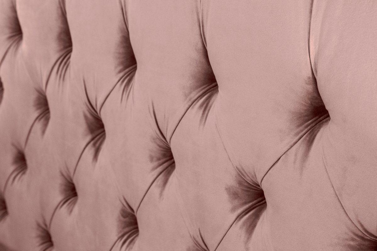 Designová postel Laney 160x200 cm starorůžový samet - Skladem (RP)
