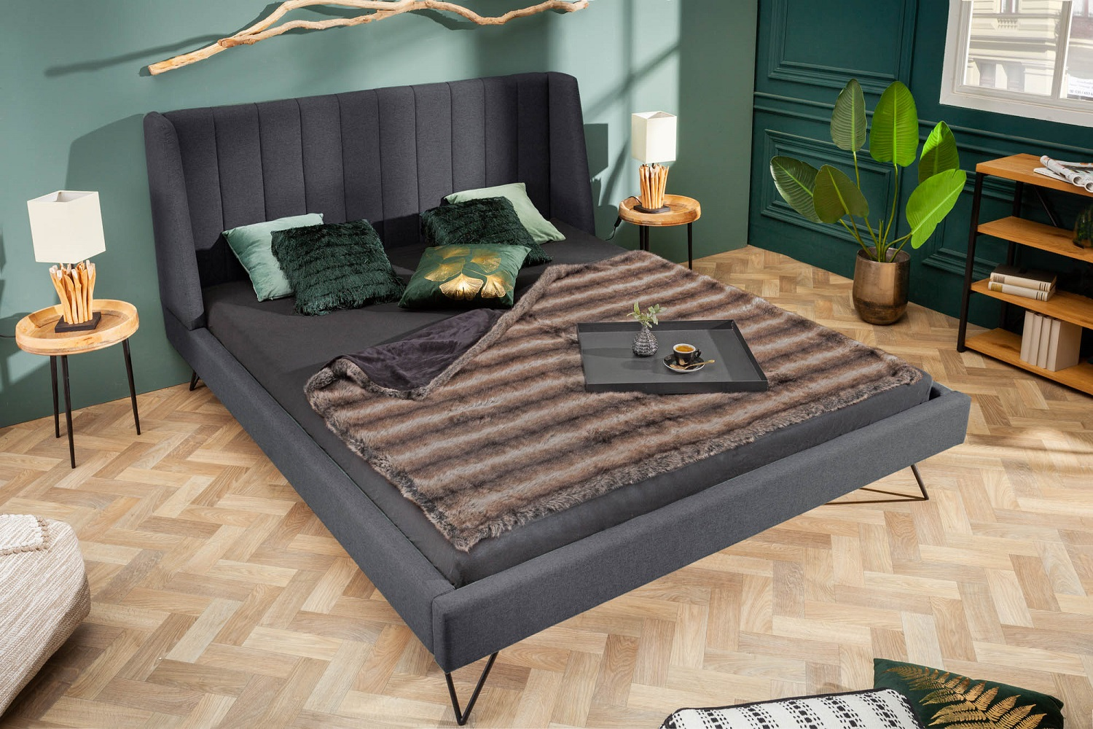 Designová postel Phoenix 180 x 200 cm antracit