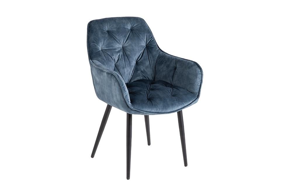 Designová stolička Garold petrolejový samet