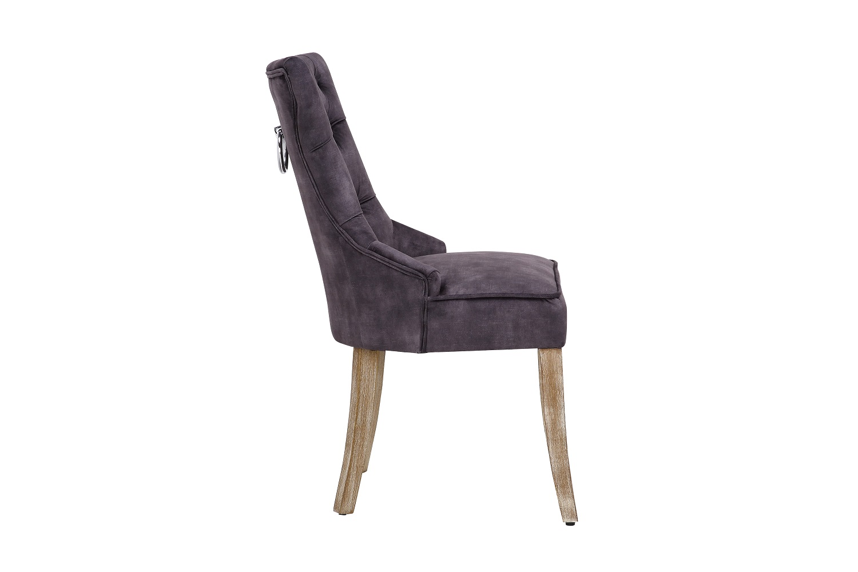 Designová stolička Queen samet královská šedá