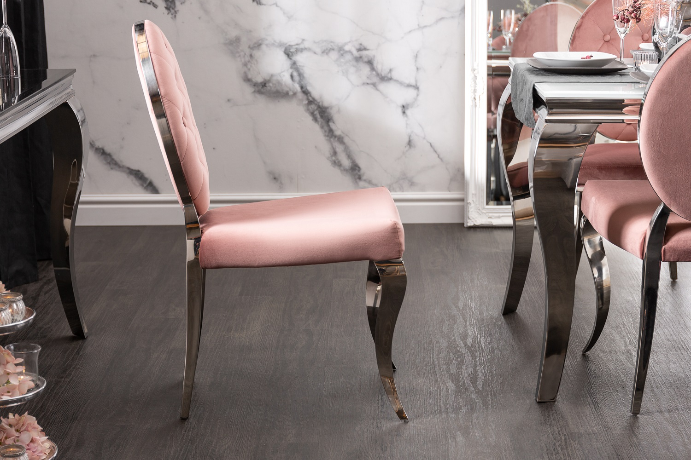 Designová stolička Rococo II růžová