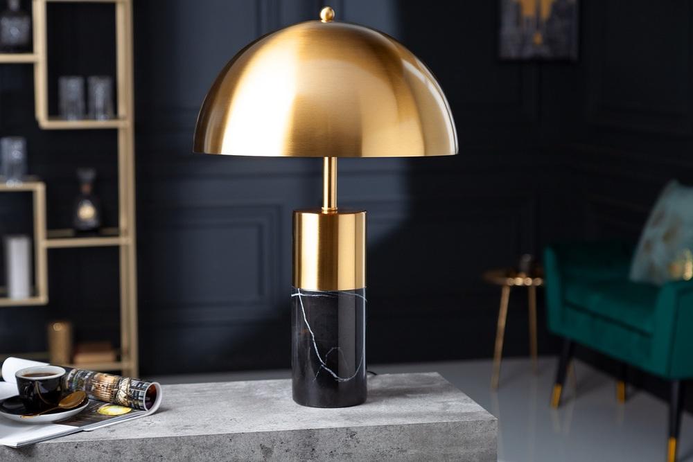 Designová stolní lampa Aamira 52 cm černo-zlatá