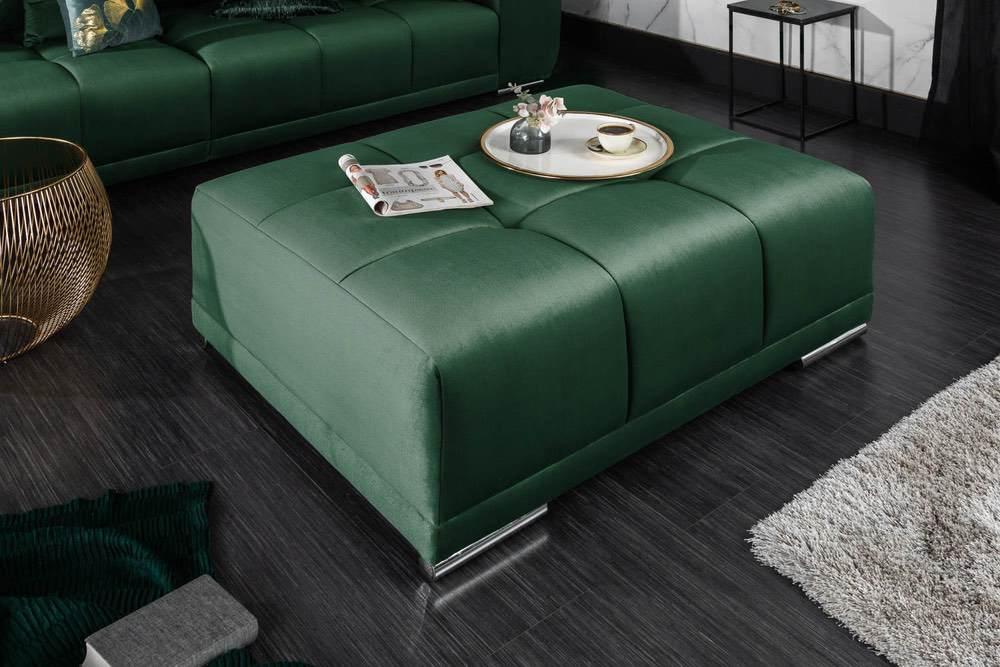 Designová taburetka Cason 110 cm smaragdová